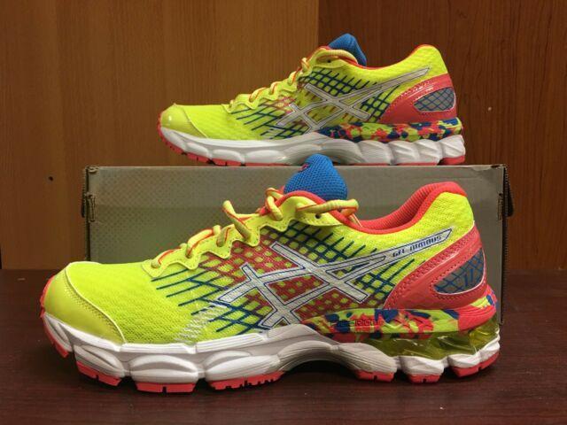good best website uk cheap sale ASICS Gel-Nimbus 17 GS FlashYellow/FlashPink/Blue C519N New with Box Youth  Size