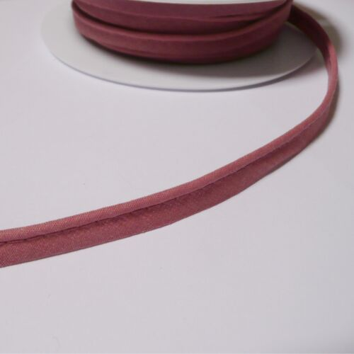 flanged 2mm insert piping cord poly cotton bias cut Per Metre Many Colours