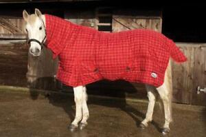 Rhinegold-Dakota-300-G-Horse-Stable-Rug-Combo-Full-COU-a-carreaux-rouges