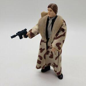 Vintage Star Wars Han Solo Endor Trenchcoat Action Figure Complete All Original