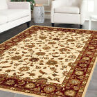 TURKISH TRADITIONAL NEW 15mm THICK LARGE MODERN FLOOR RUG **CREAM RED**