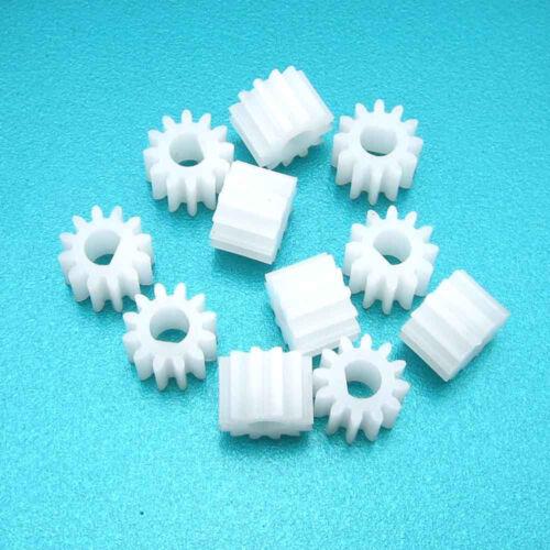10 un 1012DF Plastic Gear D forma agujero 3mm 12T M0.5 para motores N20 D-AXIS Hazlo tú mismo