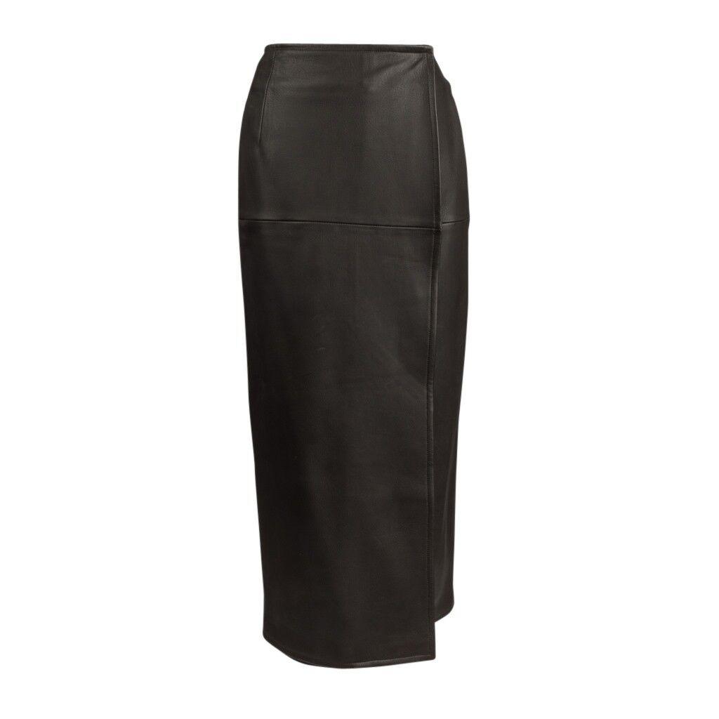 Hermes Skirt Luxurious Deer Leather Sleek Wrap 38   6