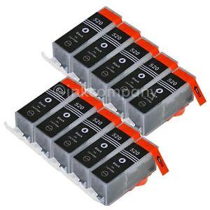 10-x-PGI-520-PIXMA-iP3600-iP4600-ip4600x-iP4700-MP540-MP550-MP560-MP620-MP630