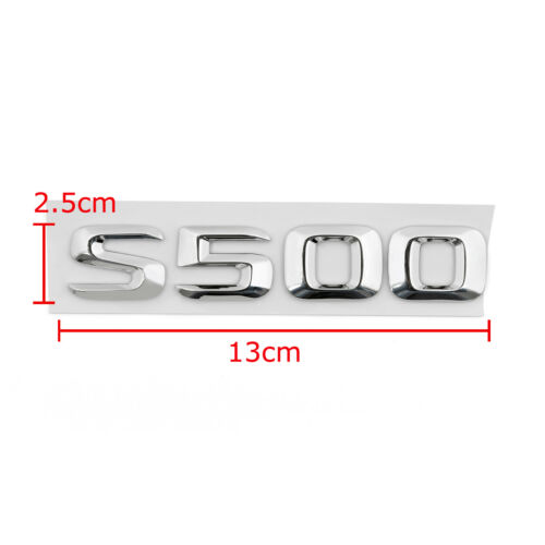 Car Trunk Rear Emblem Badge Letters S500 for S500 S-Class W220 W221 Chrome A7