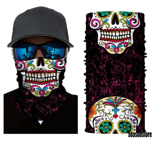Skull Joker Face Shield Sun Mask Balaclava Neck Gaiter Fishing Headwear UV Clown