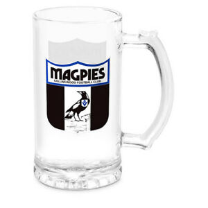 AFL-Stein-Glass-Collingwood-Magpies-Drink-Cup-Mug-500ml-Retail-Boxed