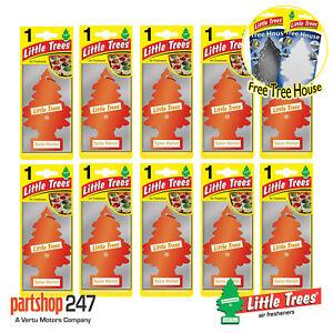 10 x Spice Market Magic Tree Little Trees Car Air Freshener + FREE TREE HOUSE