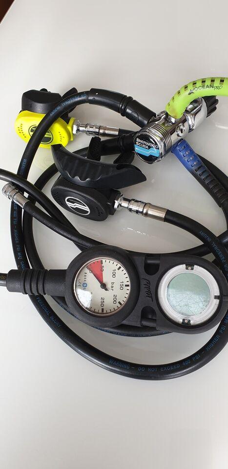 Dykkerudstyr - BCD - dragt - finner - regulatorsæt SeaQuest