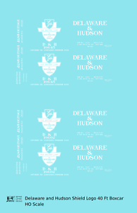 K4-HO-Decals-Delaware-and-Hudson-40-Ft-Boxcar-White-Shield-Logo