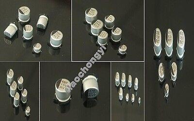 10-50PCS SMD 0.1UF-1000UF Aluminum Electrolytic Capacitor 6.3V 16V 25V 35V 50V