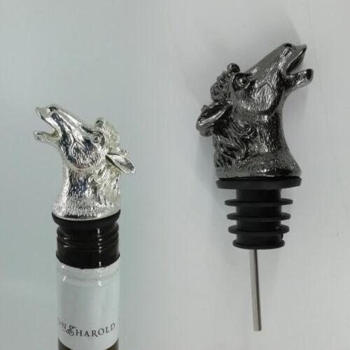 Zinc Alloy Liquor Spirit Wine Bottle Pourer Dispenser Spout Stopper for Kitchen