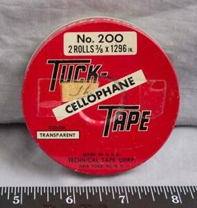 Vintage Tuck Cellophane Tape Metal Tin jds