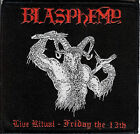 Blasphemy- Live Ritual 2 Patch Behemoth Rotting Christ Black Death Metal Revenge