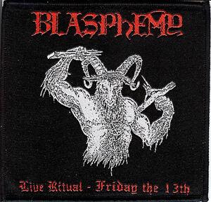 Blasphemy-Live-Ritual-2-Patch-Behemoth-Rotting-Christ-Black-Death-Metal-Revenge
