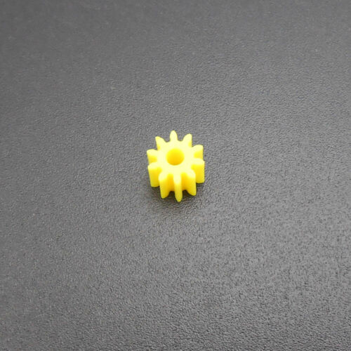 10PCS 0.5 Modulus 10T 0.5M 10 Teeth Spur Gear A 2MM 1.95MM Yellow Gears H 5MM 2A