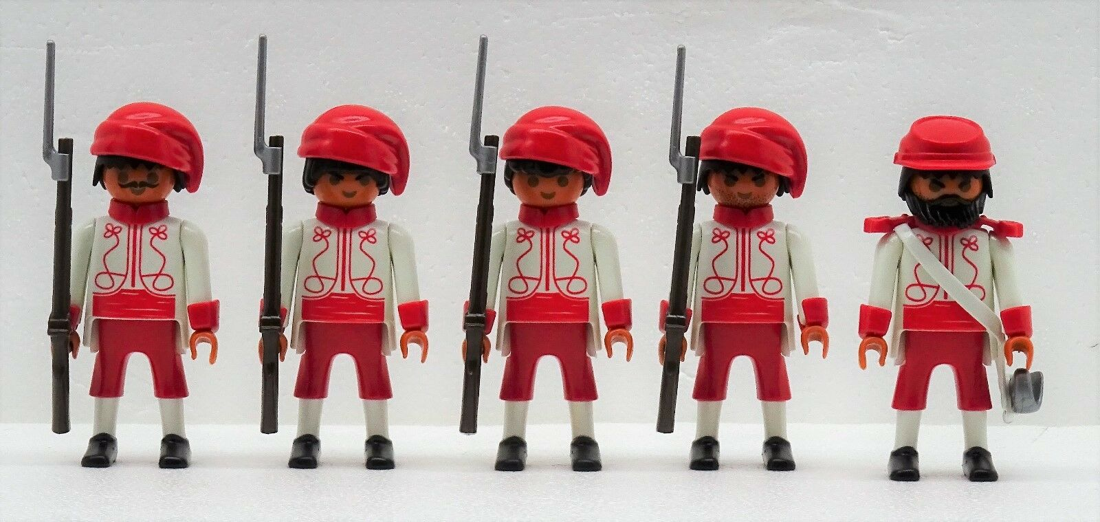 Zouave 4 Soldats +  Officier A Playmobil Citoyen Du Nord contre Sudistes Acw  produit de qualité d'approvisionnement