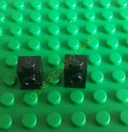 2 X Lego 4070 Brick Modified 1 x 1 with Headlight Black
