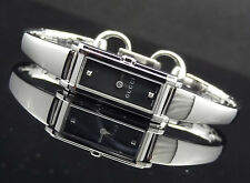 Gucci YA109518 Black Dial Diamond 109 Series Silver Tone Band Women's Watch
