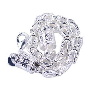 925-Silber-Armband-Armkette-Panzerkette-Koenigskette-Massiv-damen-Herren-Maenner