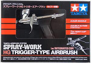 tamiya trigger air brush w integrated cup japan import 74540