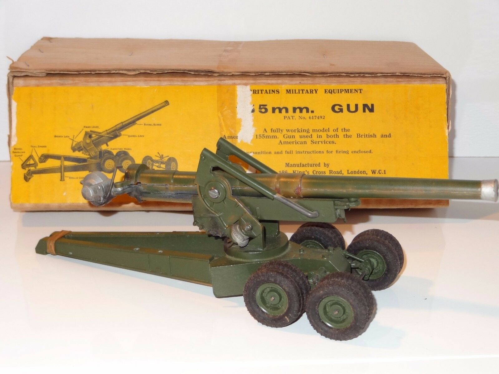 (W) BRITAINS 155 mm Cannon Gun - 2064