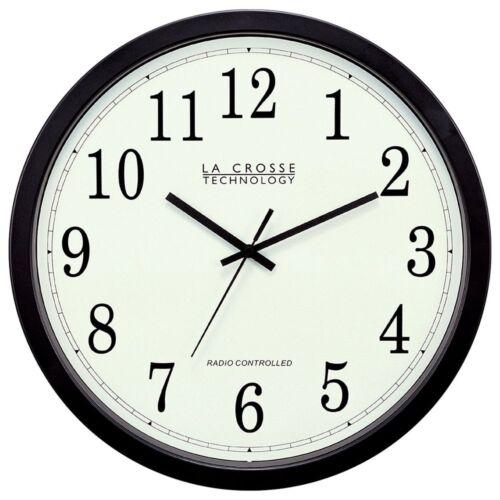 La Crosse Technology WT-3143A-INT 14-Inch Atomic Wall Clock Black