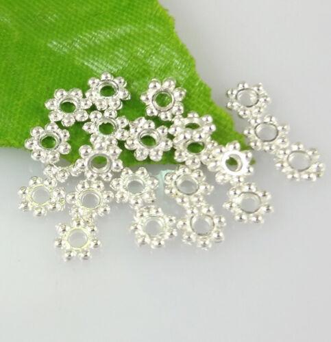 Petit joint de flocon de neige Métal Spacer Beads Jewelry Findings 4X1mm