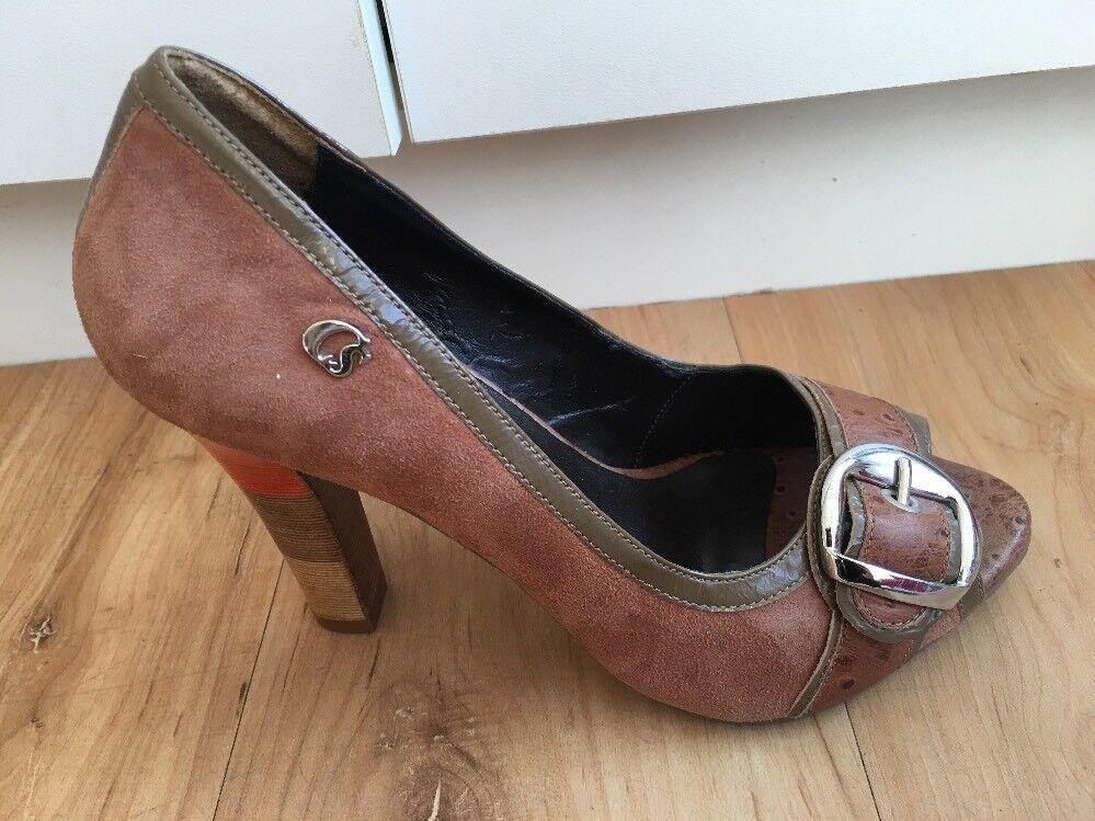 Ladies Brown Suede CARMEN STEFFENS Heels AUS Size High 5 High Size Peep Toes b2c9d2