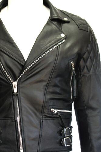 pelle motociclista motociclista vera nera da in stile da uomo da motociclista Giacca Desperado w6q4EXTq