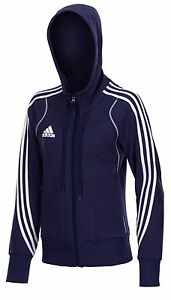 Adidas-Kinder-Jugendliche-Hoody-blau-Kapuzenjacke-Zip-Hoodie-Gr-128-140