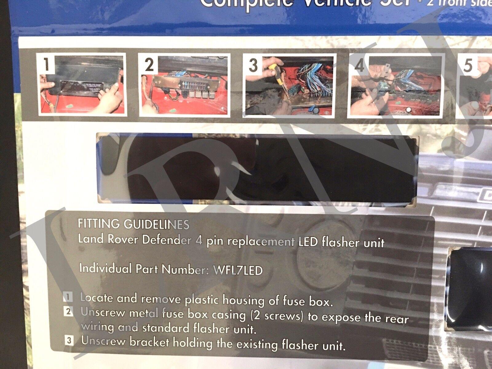 Land Rover Defender Britpart Wipac Led Upgrade Lamps Kit 73 Mm 98 Fuse Box Style Da1192 Ebay