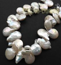 "4"" Top quality-White blister Pearls-big fresh water Pearls"