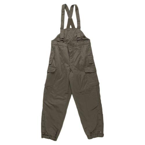 Original Austrian army combat pants bib military olive OD overall w braces NEW