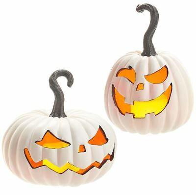 9 Lighted Jack O Lantern Halloween Decorations Raz Imports 3910265 New Mint Ebay