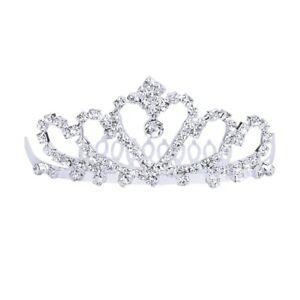 1X-Flower-Rhinestone-Bridal-Tiara-Crown-w-Comb-Pin-for-Wedding-Engagement-Pr-SM