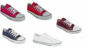 ADULTS-UK-SIZES-Canvas-Pumps-Lace-Up-Low-Trainers-Plimsolls-MEN-039-S-WOMEN-039-S-SHOES