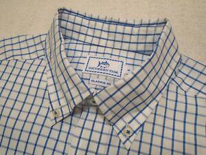 Southern-Tide-Cotton-Blue-Tattersall-Check-Skipjack-Sport-Shirt-NWT-Medium-125