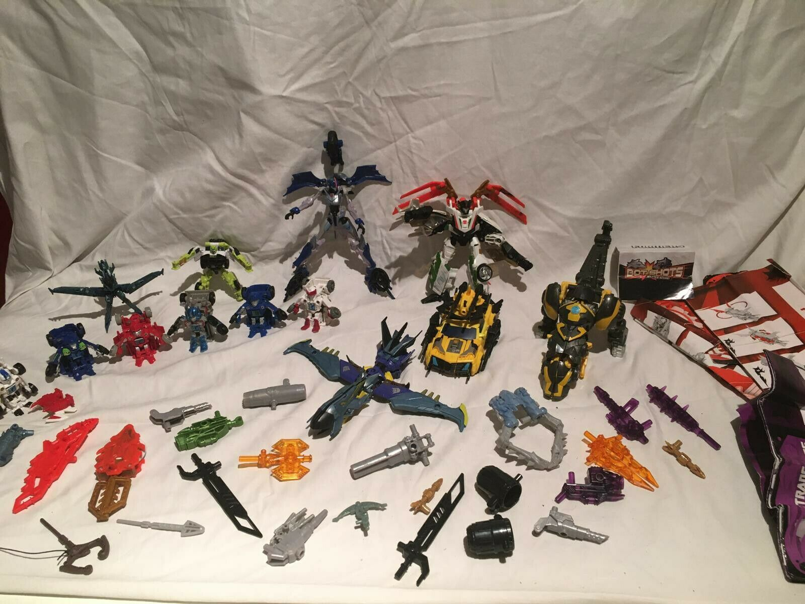Transformers Bundle Beast Hunters Bot Shots Bumblebee Raptor 2001 2011 Vintage