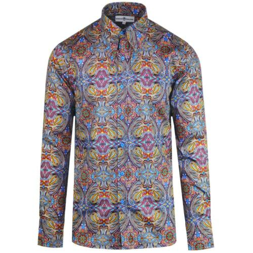 Paisley Gangster Spear Shirt Mens In New Madcap Mc473 Mod 60s Collar Retro 70s Zw8UnfPxHq