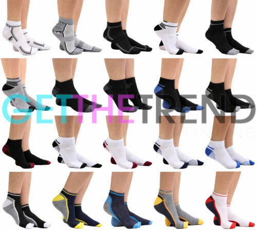 6 Pairs Mens Trainer Socks Sports Gym Summer Cotton Pack Footwear Size 6-11 New