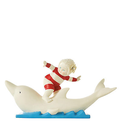 Snowbabies Beach Babies Let`s Go Surfin Figurine NEW