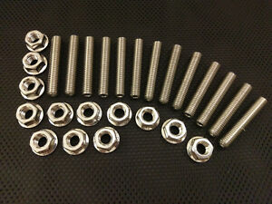 Seat Leon 1.8T Cupra R Stainless Exhaust Studs and Flange Nuts 02-05