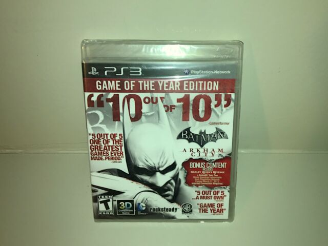 Batman Arkham City PS3 Black Label - Game of the Year NEW Sony PlayStation 3