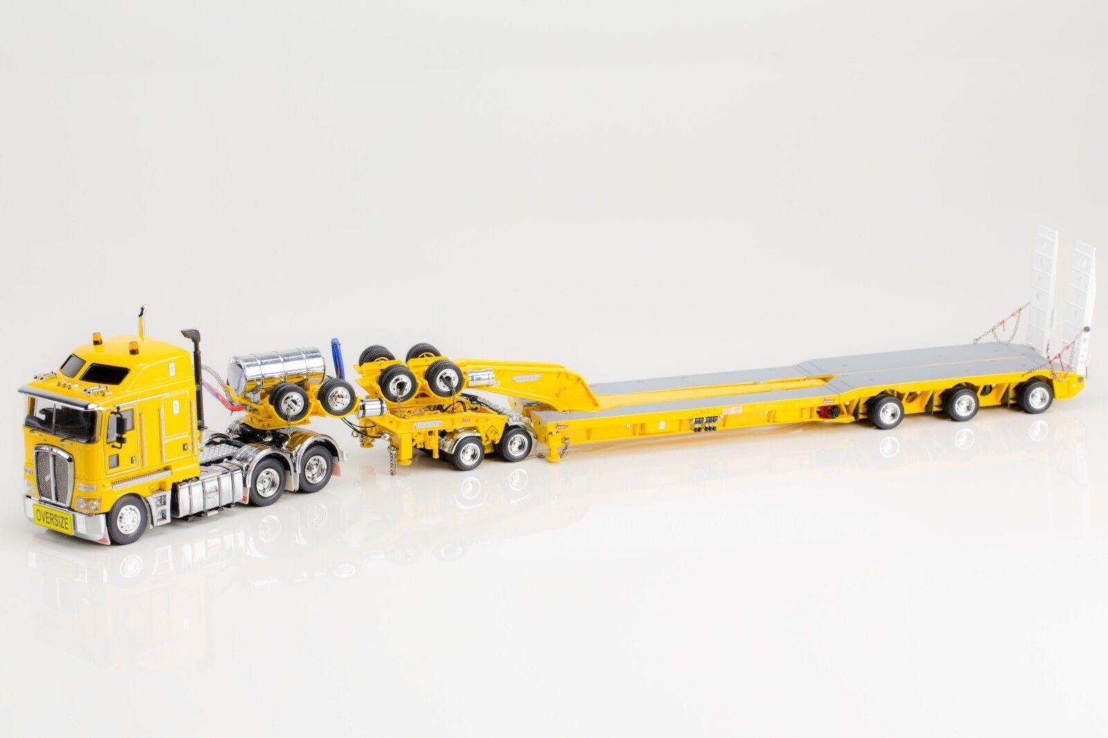 KENWORTH K200 with DRAKE 2x8 DOLLY & 3x8 LOWLOADER - CHROME YELLOW