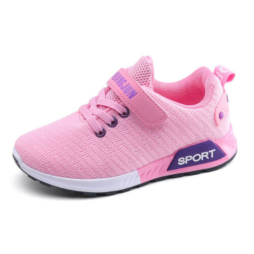 Kids Sneakers Lace Up Mesh Running Breathable Sport Shoes Tennis Boys Girls 2-6Y