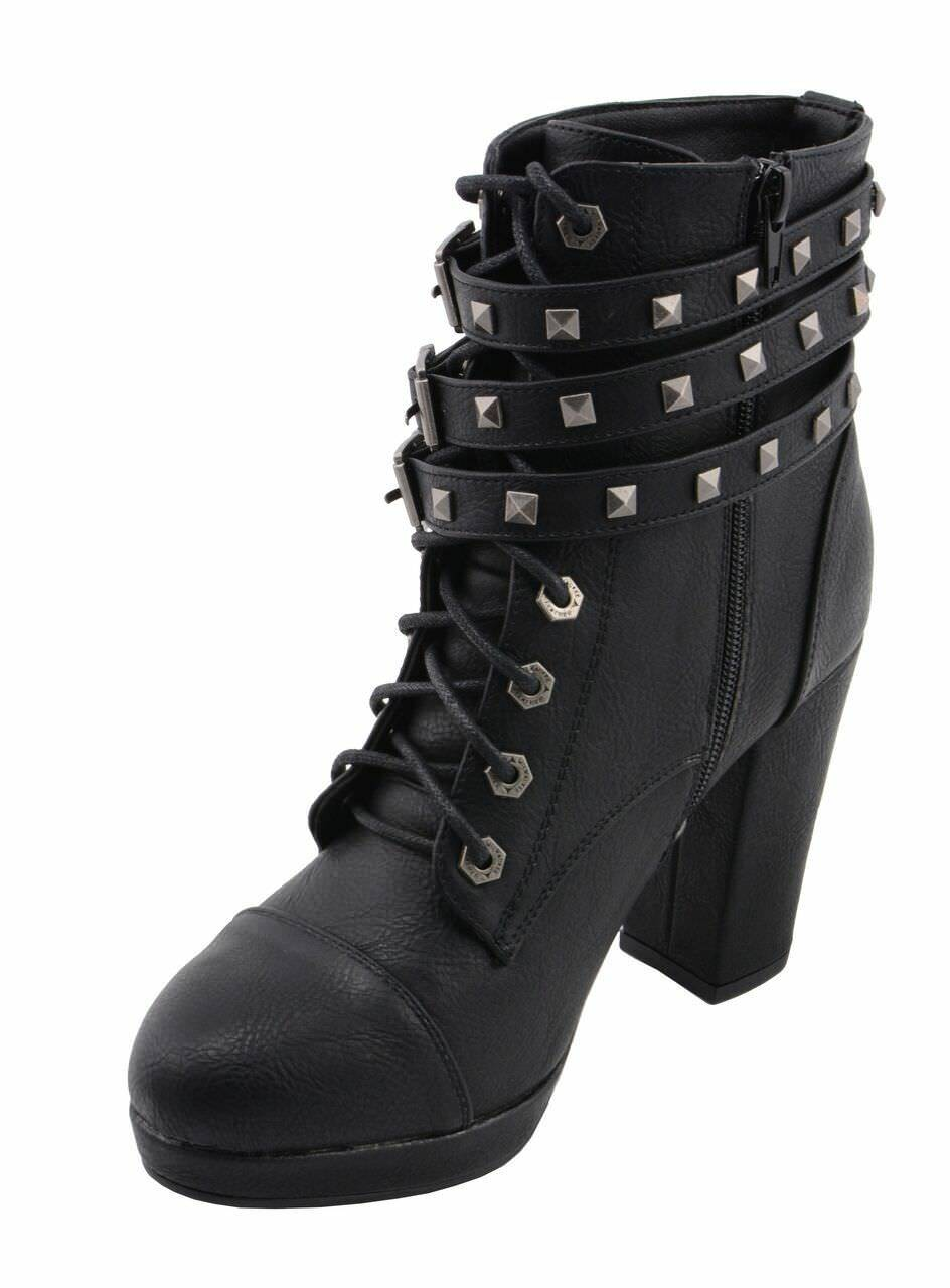 Milwaukee Performance Women's Triple Strap Boot Boot Boot W  Studded Accents MBL9417 881383
