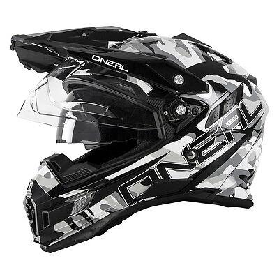 O Neal Sierra Adventure Motocross Helmet Sniper Off Road Dual Sport Motorcycle