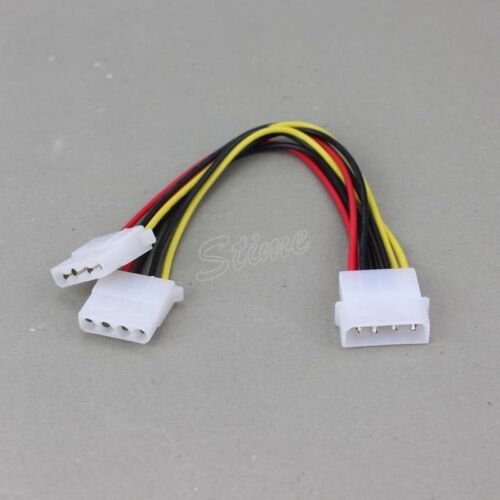 5PCS PC Fan Male 4-Pin Convert to 2x Female 4-Pin Y-Splitter Cable Connector