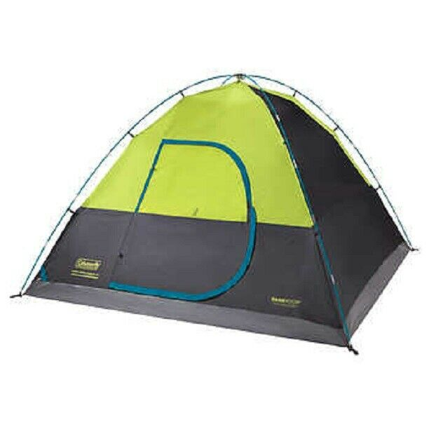 NEW COLEMAN 6 PERSON DARK ROOM FAST PITCH DOME TENT  PRE-ATTACHED POLES HUB 17LBS  cheap and high quality